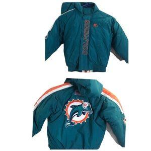 Vintage 90s Miami Dolphins Starter NFL Jacket KIDS